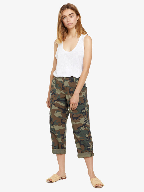 Explorer Patch Pocket Crop Pant Love Camo