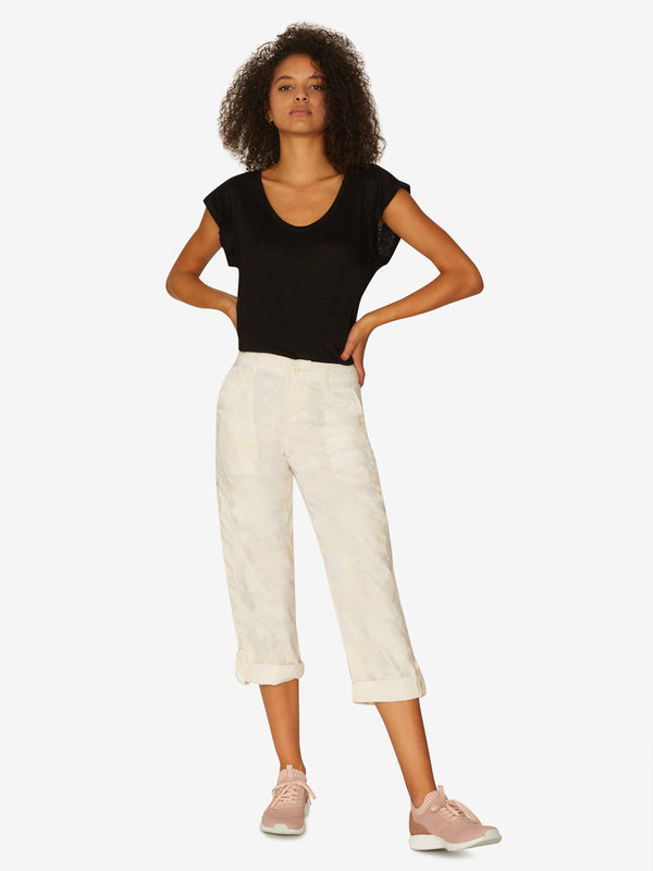 Explorer Patch Pocket Crop Pant Charming  Camo