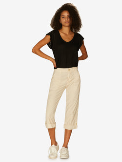 Explorer Patch Pocket Crop Pant Washed Pebble