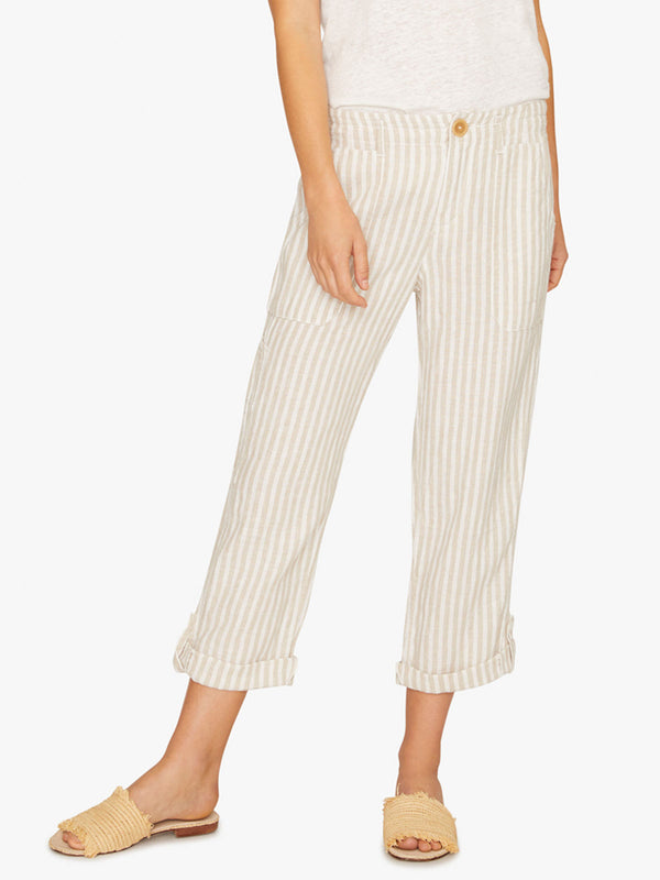Explorer Patch Pocket Crop Pant Sand Valley Stripe