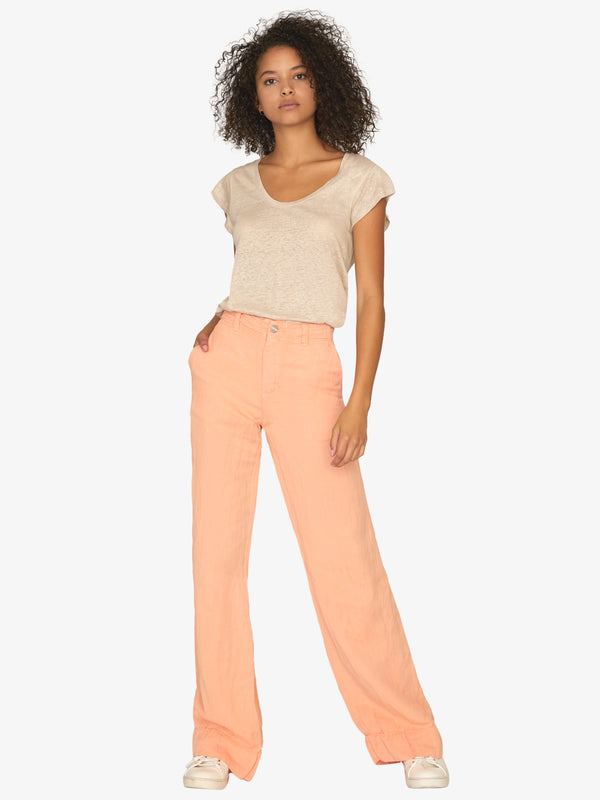 Excursion Wide Leg Soft Pant Washed Tangerina