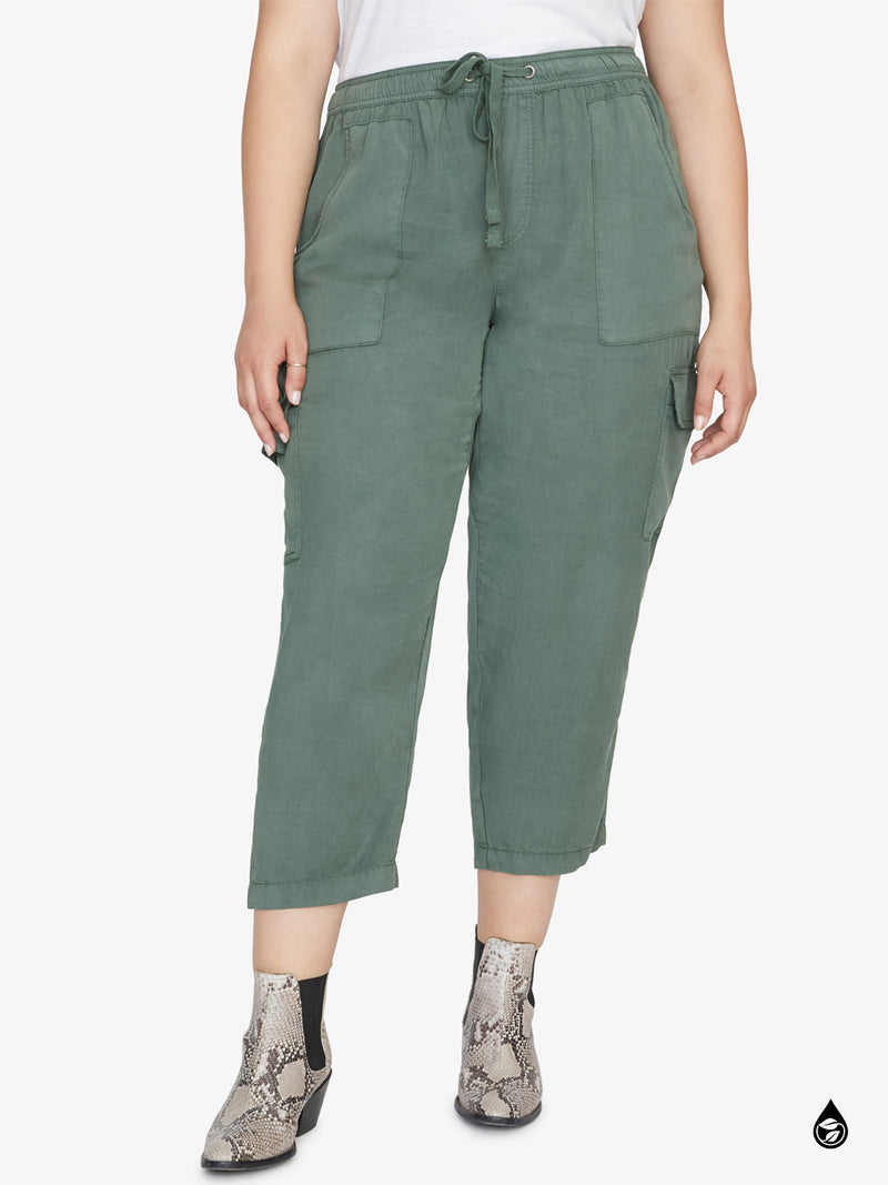 Discoverer Pull On Cargo Pant Peace Green