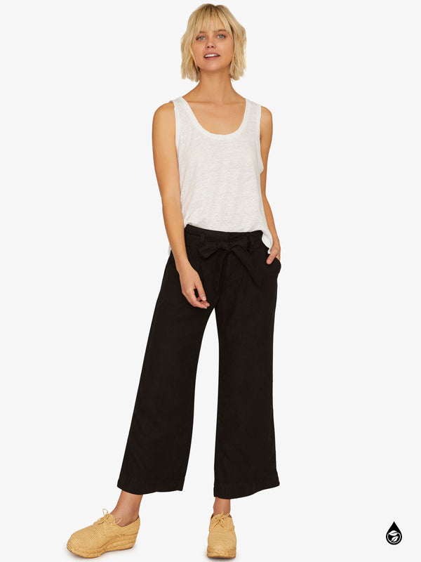 Inland Sashed Crop Pant Black