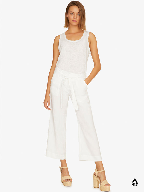 Inland Sashed Crop Pant Brite White