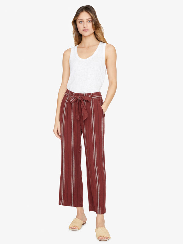 Inland Sashed Crop Pant Henna Stripe