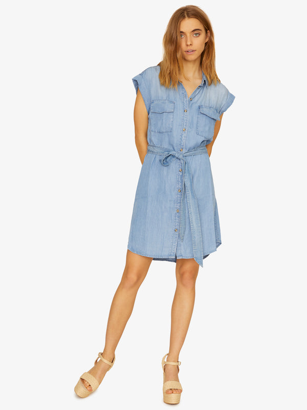 Dusty Sleeveless Shirt Dress Sierra Wash