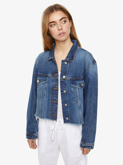 Open Road Cropped Trucker Jacket Red Rock