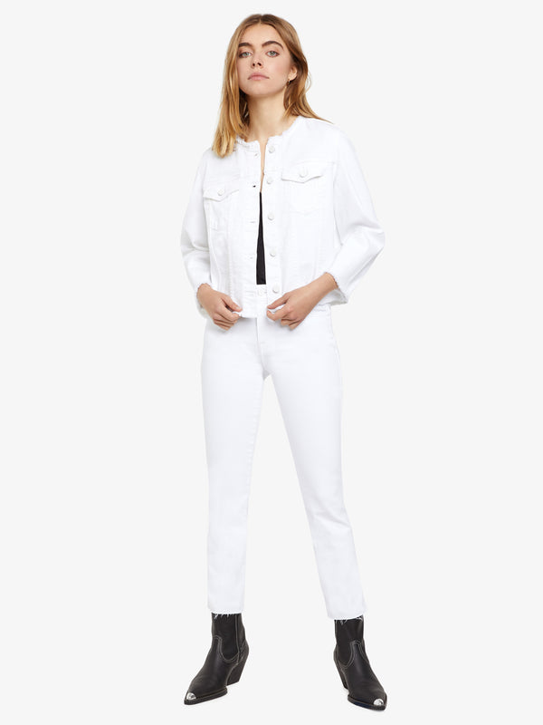 Addie Cropped Jacket Malibu White