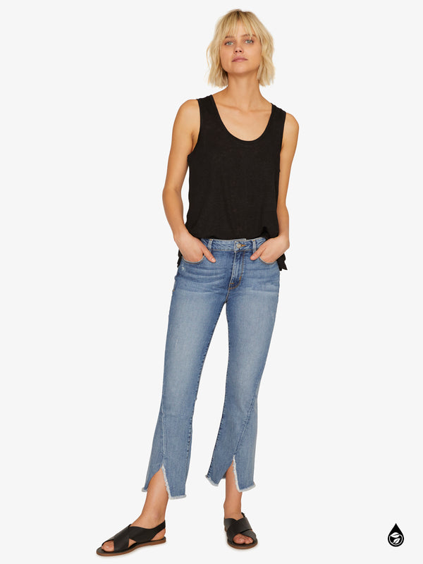 Connector Kick Crop Twisted Extreme Slit Jean San Jacinto Blue