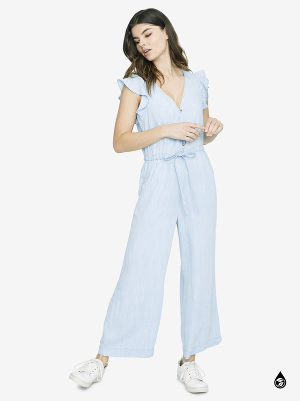 Mica Ruffle Sleeve Jumpsuit Catalina Wash