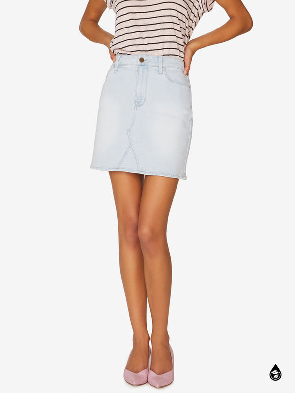 Ryan 5-Pocket Mini Skirt Glassell Blue