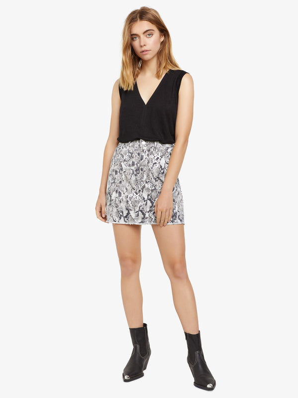 Ryan 5 Pocket Mini Skirt Queen Snake