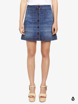 Lena Mini Skirt Cactus City Blue