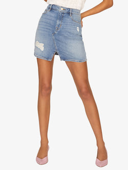 Leo 5-Pocket Mini Skirt Zuma Beach Blue
