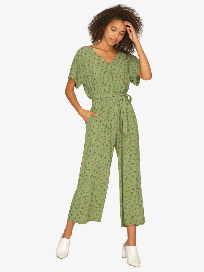 Andi Wrap Jumpsuit Go Green
