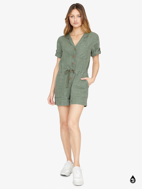 Squad Leader Surplus Romper Peace Green