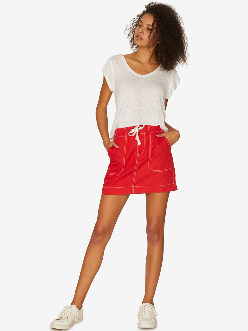 Peace March Surplus Skirt Poppy Red