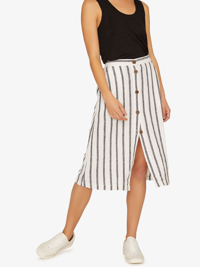 Mabel Midi Skirt Still Life Stripe