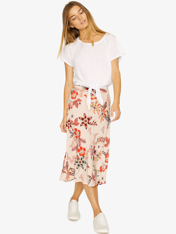 Everyday Midi Skirt Desert Floral