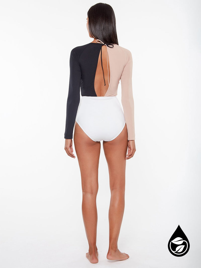 Long Sleeve Bodysuit With Twist Tan Lines