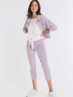 Stevie Cropped Trucker Jacket Charming Lilac
