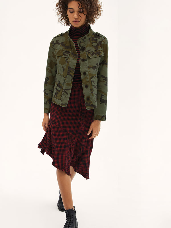 She's The One Asymmetric Skirt New Generation Plaid