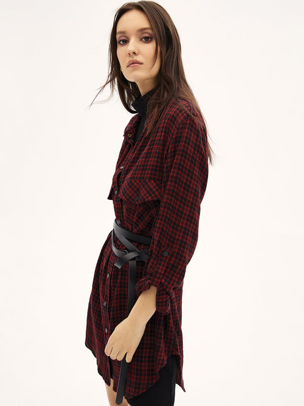 Main St. Boyfriend Tunic New Generation Plaid