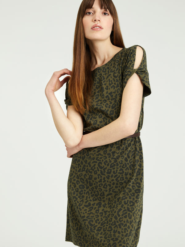 So Twisted T-Shirt Dress Camo Leo - Dress