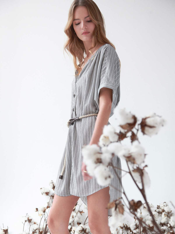 Ellis Shirtdress Eco Stripe