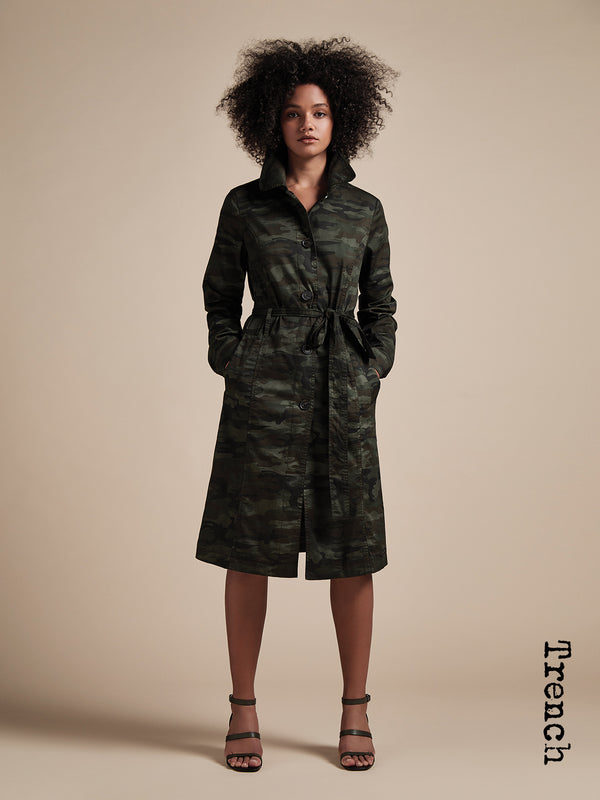 Camo Trench Coat Little Hero Camo