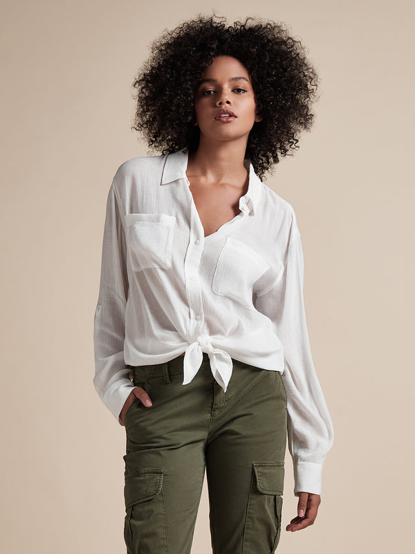 Waverly Boyfriend Shirt White Jasmine