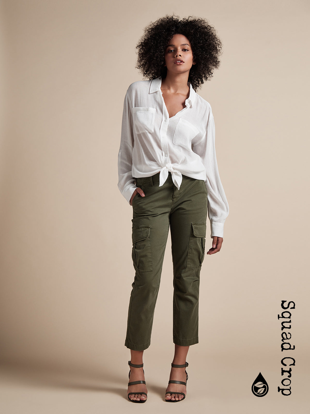 Squad Crop Pant Aged Green