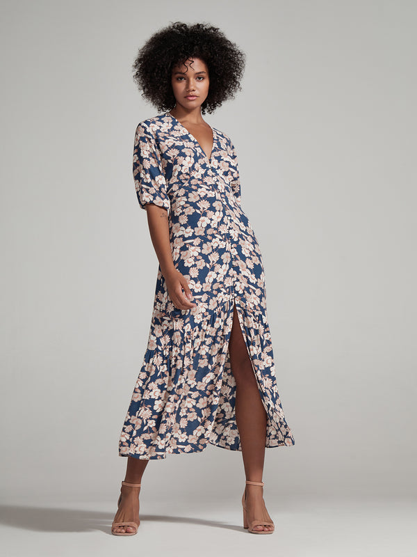 Florence Maxi Dress Stencil Floral