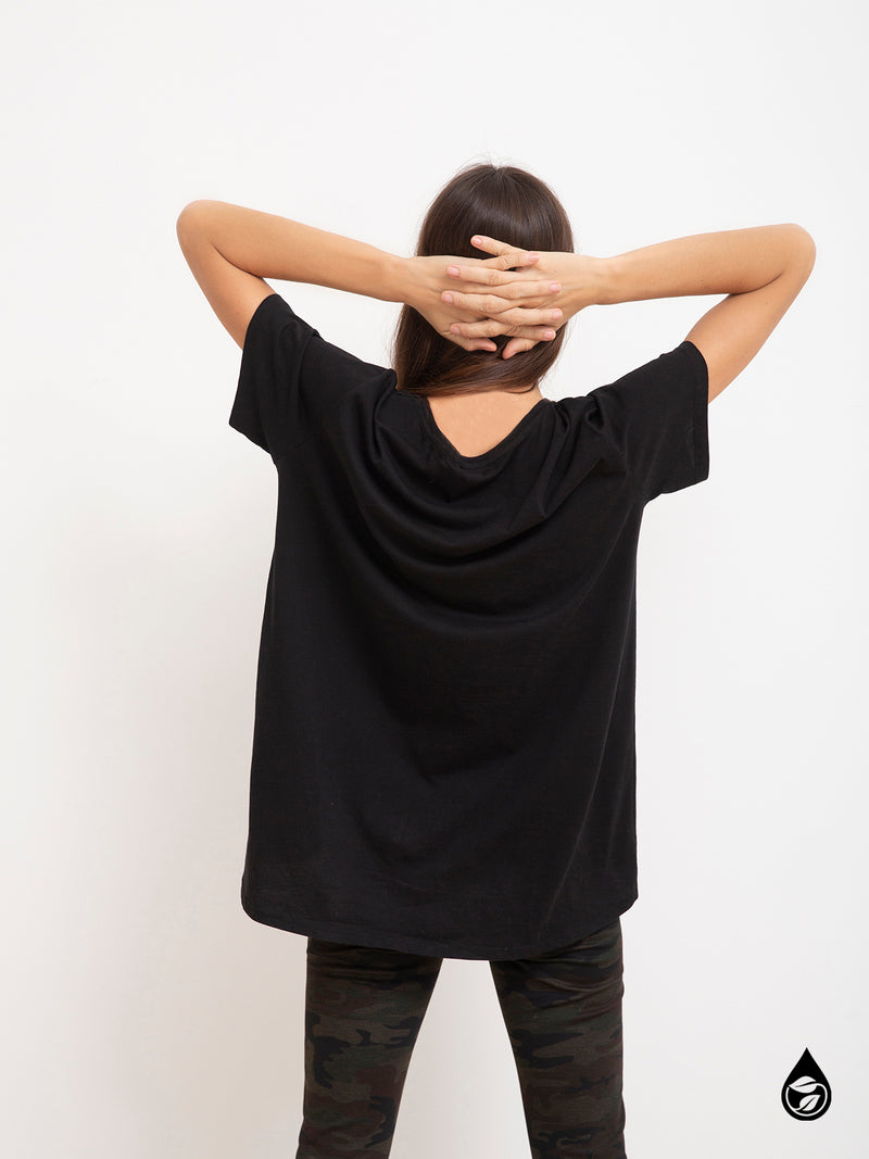 Boyfriend Tee Black - Black / OS - Knit Top