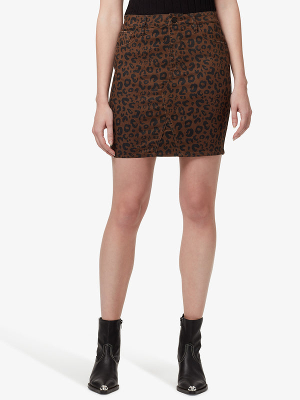 Sia 5 Pocket Skirt Leopard