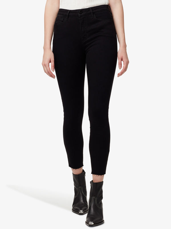 Social Standard High Rise Skinny Ankle with Raw Hem Jet