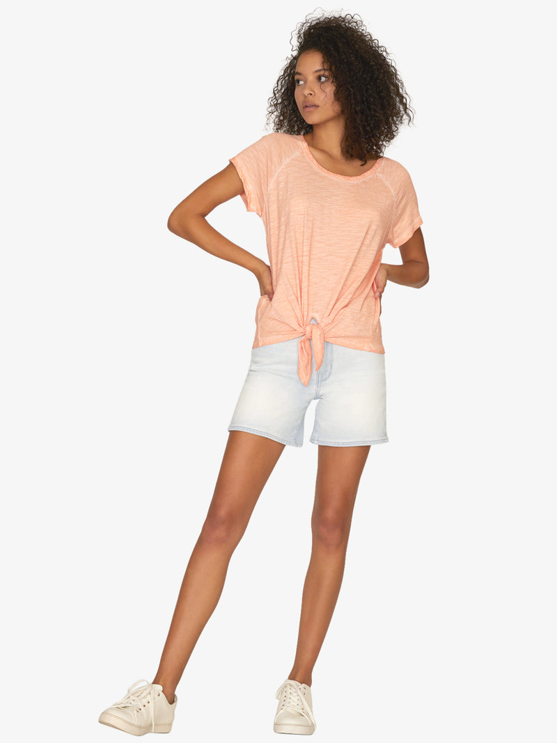 Lou Tie Tee Washed Tangerina