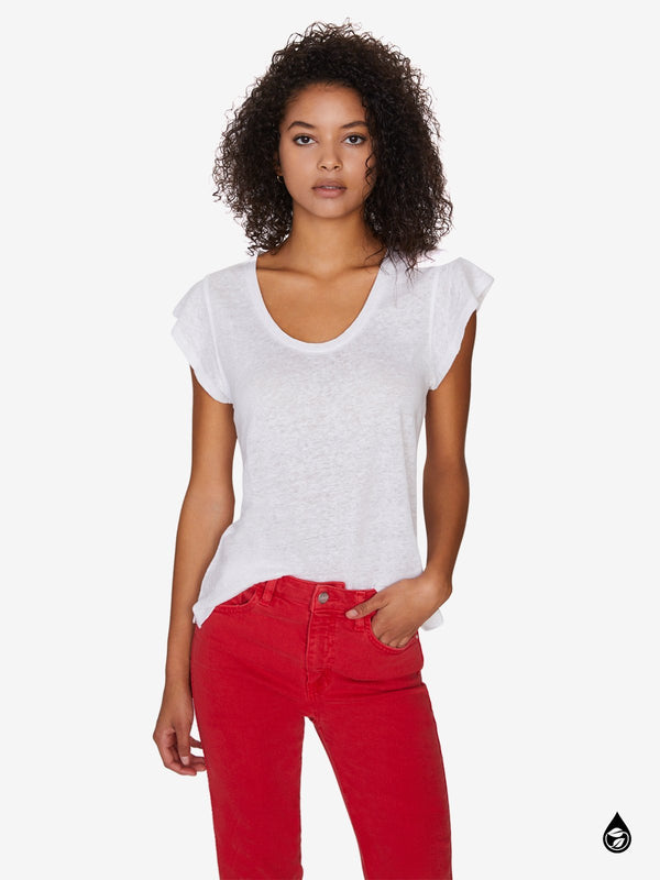 Ruby Scoop Tee Brite White