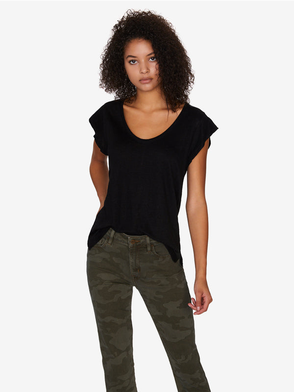 Ruby Scoop Tee Black