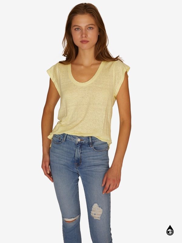 Ruby Scoop Tee Dandelion