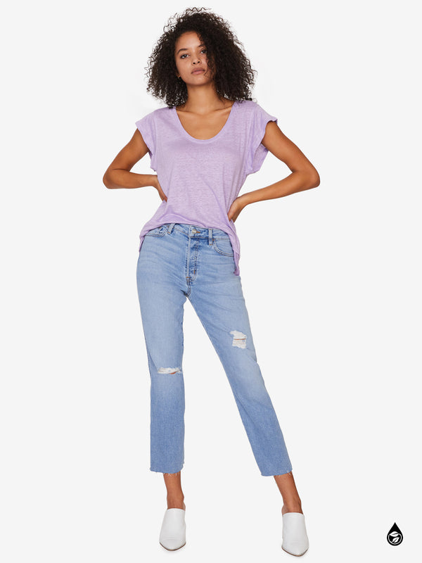 Ruby Scoop Tee Washed Charming Lilac