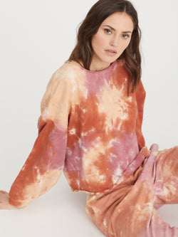 Perfect Sweatshirt Field Tie Dye