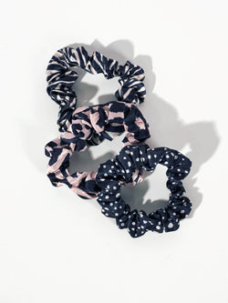 Small Satin Scrunchie 3 Pack