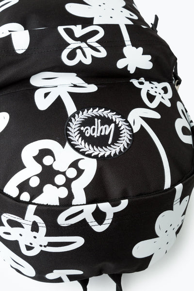 Hype Black Hand Style Floral Backpack