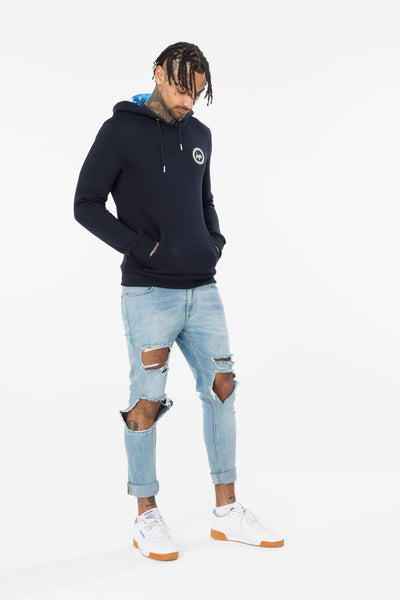 HYPE Navy Cosmo Lined Hoodie