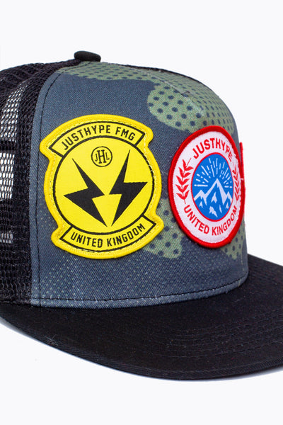 HYPE Trucker Hat Camo Patches
