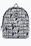 HYPE Black Sporting Justhype Backpack