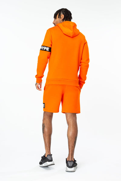 HYPE Men's Pullover Hoodie Hype Stripe Orange
