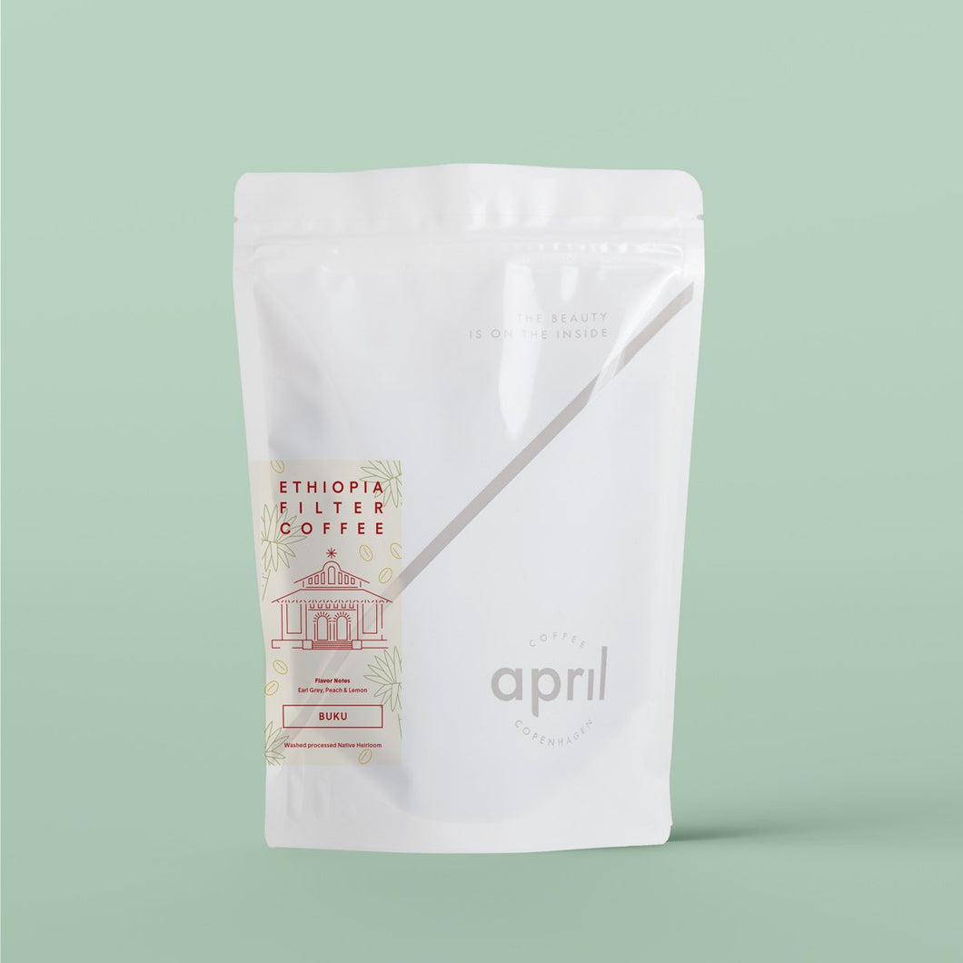 April espresso coffee beans bag