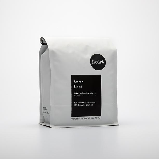 Heart coffee bag